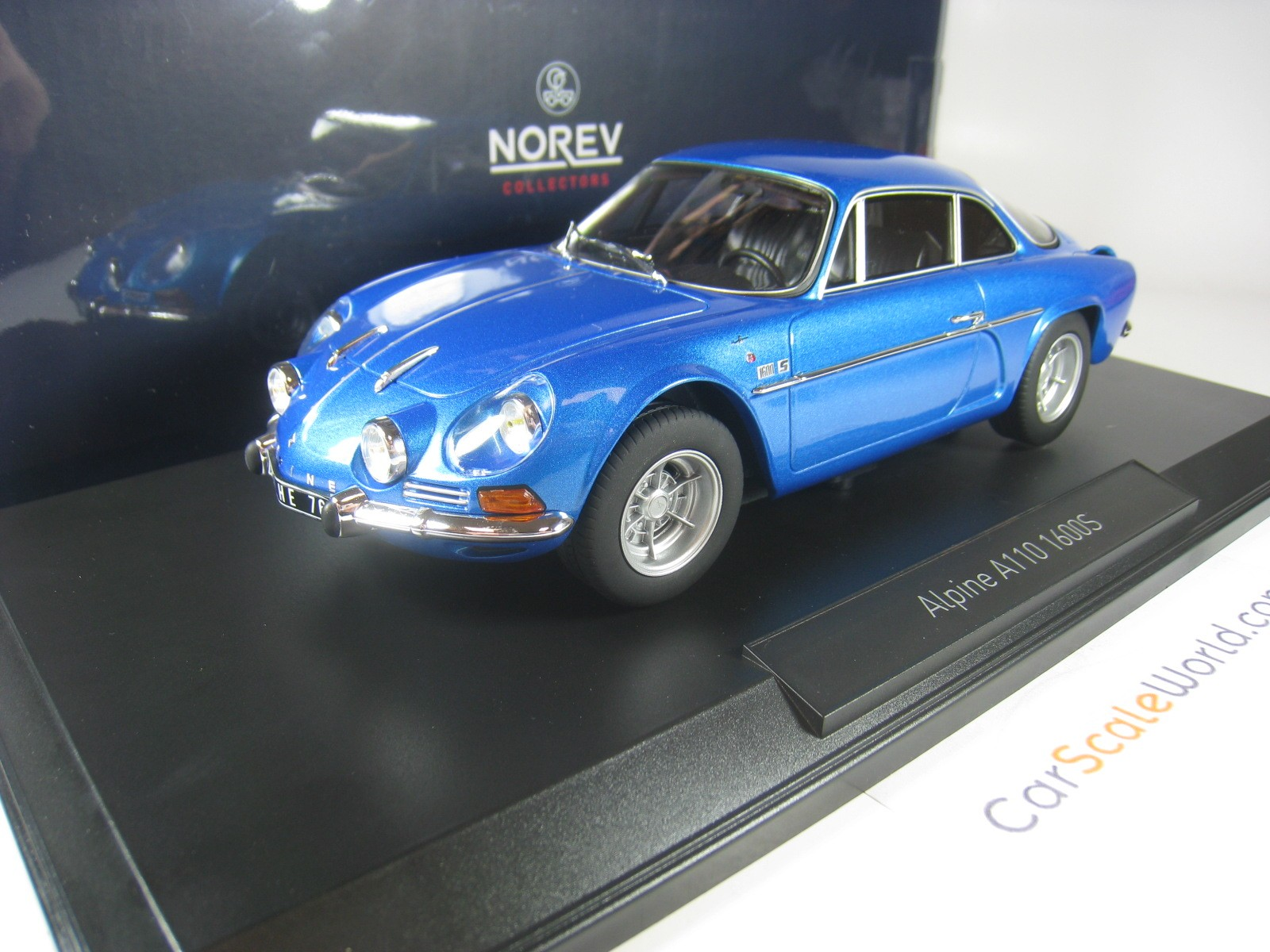 Renault Alpine 1600s A110 1971 Blue Metallic 1:18 Norev 185300