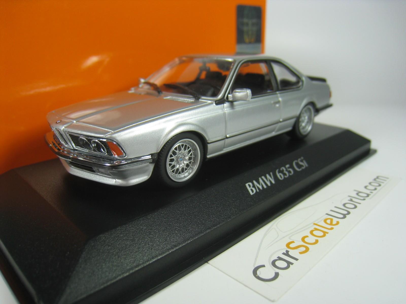 Bmw 635 Csi E24 1982 143 Maxichamps Silver Carscaleworld