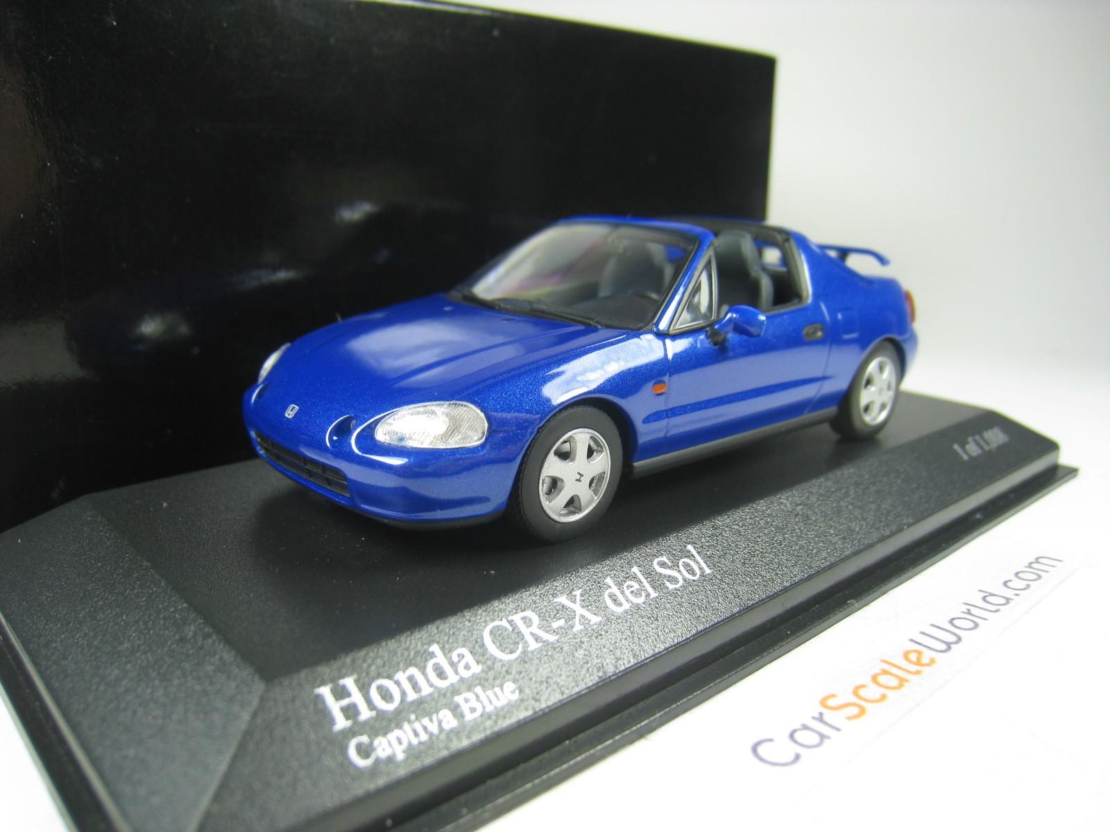 Honda CR-X del sol cabrio 1992 verde oscuro metalizado maqueta de coche 1:43 maxichamps