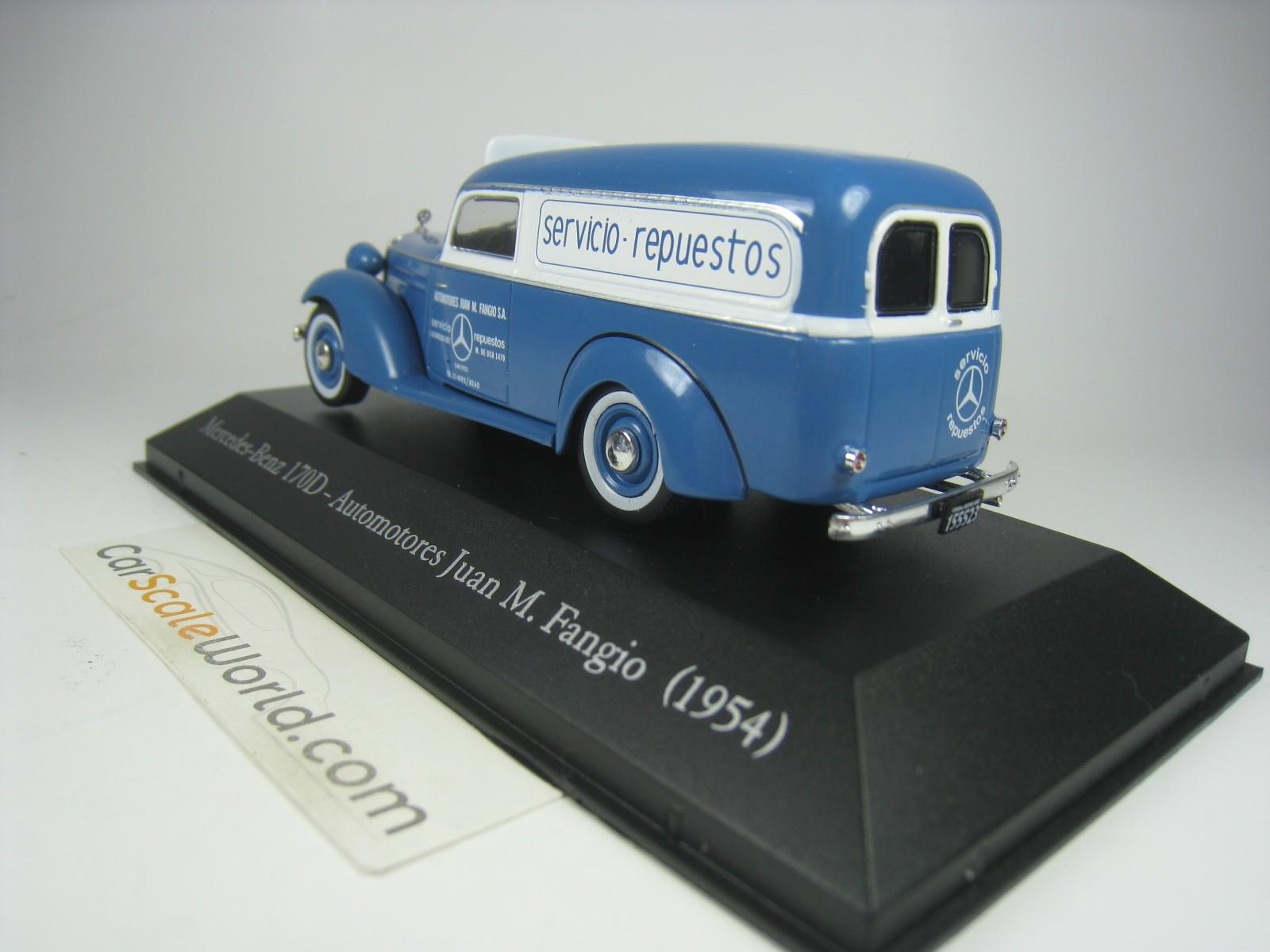 fangio 1954 escala 1:43 de Atlas Mercedes-benz 170 d automotores juan m