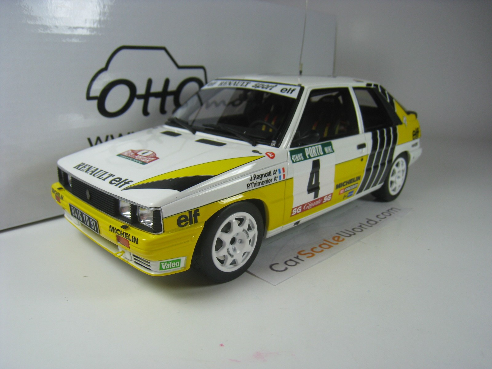 Renault 11 Turbo Rally Portugal 1987 J Ragnotti 1 18 Otto Mobile Carscaleworld
