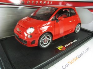 ABARTH 500 1/18 MOTORMAX (RED)