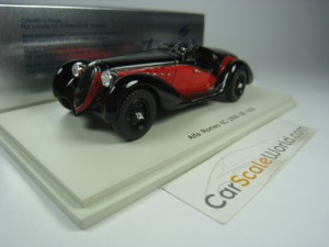 ALFA ROMEO 6C 2500 SS 1939 1/43 SPARK (BLACK/RED)