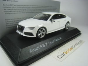 AUDI RS7 SPORTBACK 2013 1/43 iSCALE (WHITE)