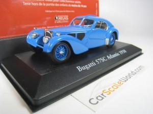 BUGATTI 57 SC ATLANTIC 1938 1/43 IXO ATLAS (BLUE)