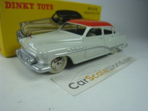 BUICK ROADMASTER 1/43 DINKY TOYS ATLAS (WHITE/RED)