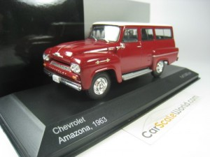 Chevrolet Amazona 1963 1/43 Whitebox (Dark Red)