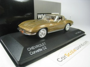 CHEVROLET CORVETTE C2 STINGRAY 1/43 WHITEBOX (GOLD