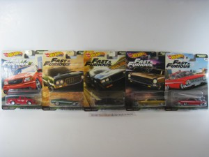 FAST AND FURIOUS MOTOR CITY MUSCLE (5 CARS SERIES)
