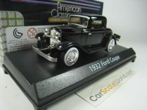 FORD COUPE 1932 1/43 MOTORMAX (BLACK)