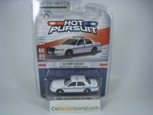 FORD CROWN VICTORIA 2008 DETROIT POLICE 1/64 GREEN