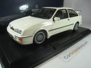 FORD SIERRA RS COSWORTH 1986 1/18 NOREV (WHITE)