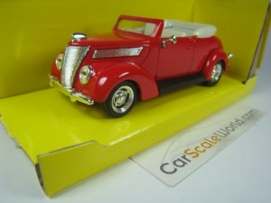 FORD V8 CONVERTIBLE 1937 1/43 YAT MING - ROAD SIGN