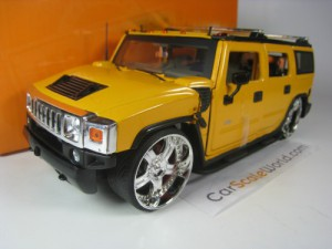 HUMMER H2 DUB STYLE 1/24 JADA TOYS (YELLOW)