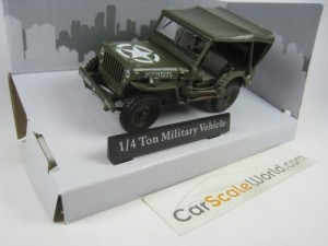 1/4 TON MILITARY VEHICLE CLOSED JEEP USA ARMY 1/43