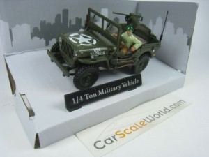 1/4 TON MILITARY VEHICLE JEEP USA ARMY 1/43 CARARA