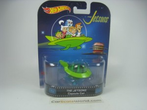 THE JETSONS CAPSULE CAR 1/64 HOTWHEELS