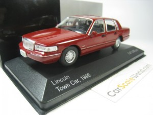 LINCOLN TOWN CAR 1996 1/43 IXO WHITEBOX (DARK RED)