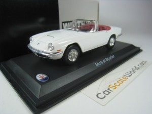 MASERATI MISTRAL SPYDER 1964 1/43 WHITEBOX (WHITE)