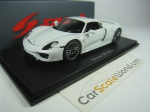 Porsche 918 Spyder Closed 1/43 Spark (White)