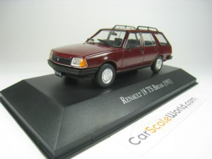 RENAULT 18 TS BREAK 1/43 IXO SALVAT (BURGUNDY) WIT