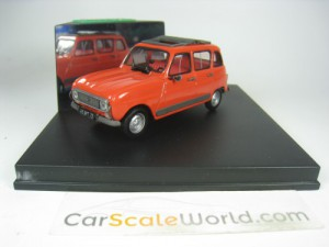 RENAULT 4 GTL WITH SUNROOF 1/43 VITESSE (RED)