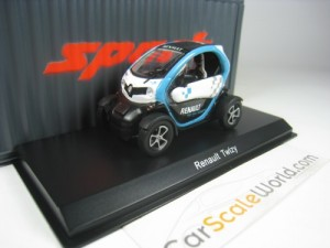 RENAULT TWIZY 1/43 SPARK (WHITE/BLUE)
