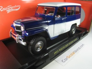 WILLYS JEEP STATION WAGON 1955 1/18 YAT MING - ROA